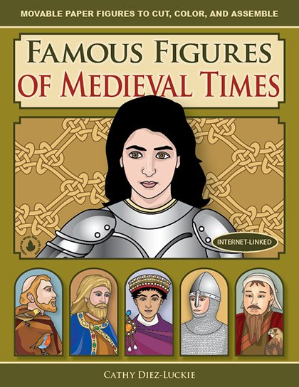 Jointed Paper Dolls of famous people from the Middle Ages - fun history crafts