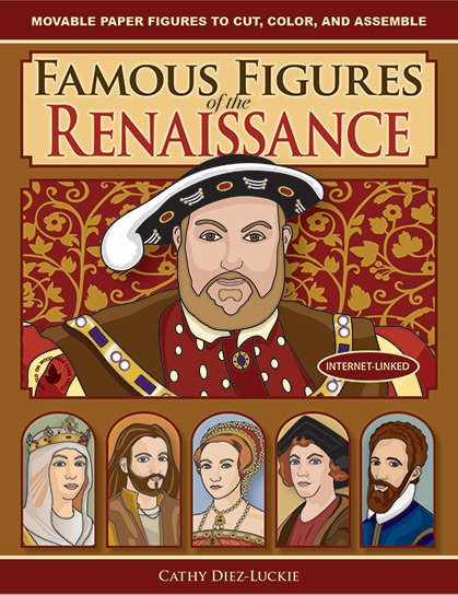 Jointed Paper Dolls of famous people from the Renaissance - fun history crafts