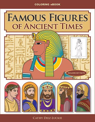Ancient times coloring pages from Famous Figures of Ancient Times Coloring eBook