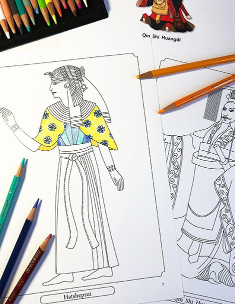 Ancient history coloring pages from Famous Figures of Ancient Times