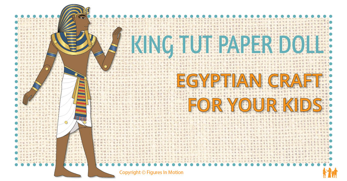 King Tut articulated paper doll that moves