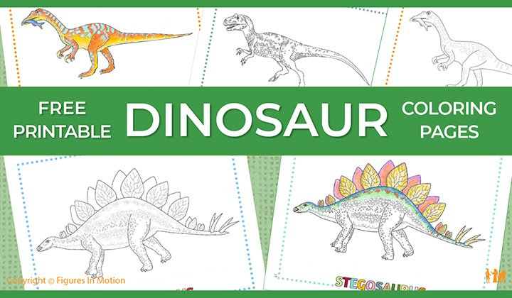 Printable Dinosaur Coloring Pages. Free sample dinosaur ...