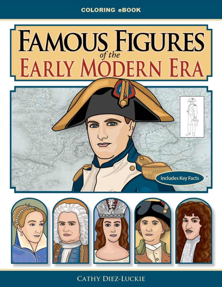 Famous Figures of the Early Modern Era Coloring eBook