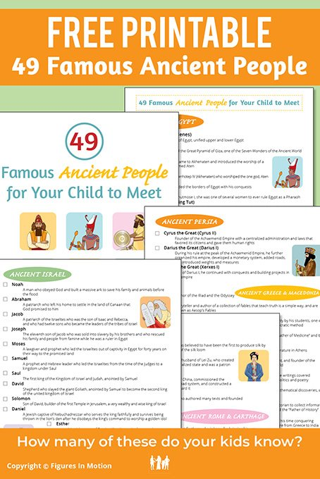 Free Printable 49 Famous Ancient People
