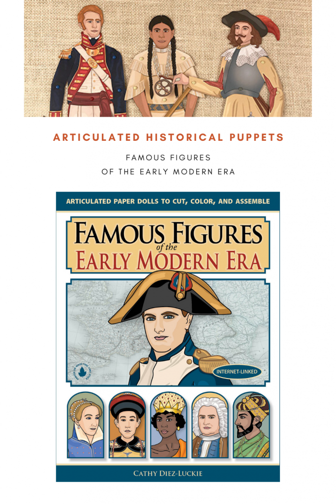 Famous Figures of the Early Modern Era articulated historical puppets