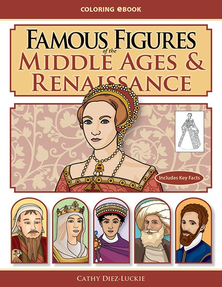 Famous Figures of the Middle Ages & Renaissance Coloring eBook